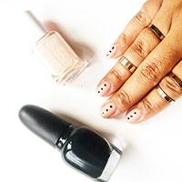 essie mani, opi mani, nail art, DIY gel mani