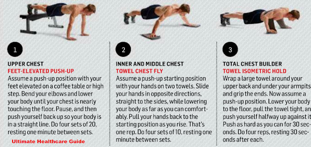 Ultimate Health Care Guide: Best Chest Execises Without Equipment