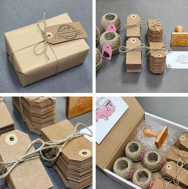 kit para personalizar tu boda etiquetas craft cuerda rústica sellos personalizado hermanas bolena