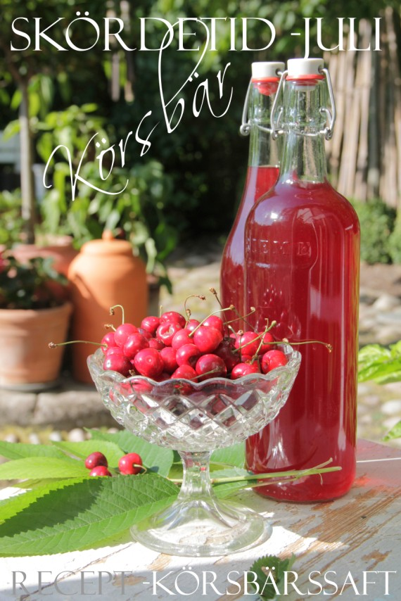 Homemade cherry soft drink