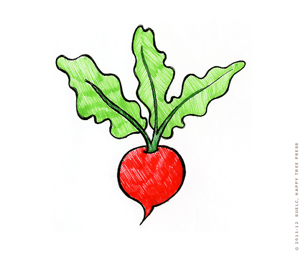How To Draw Radish