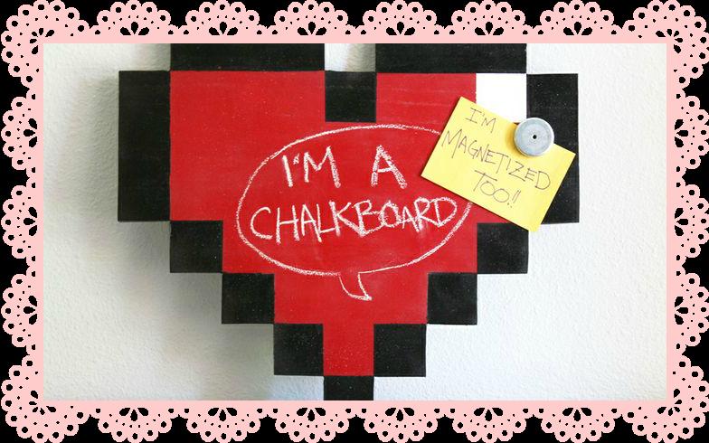 8 BITS CHALKBOARD MAGNET PIZARRA MAGNETICA