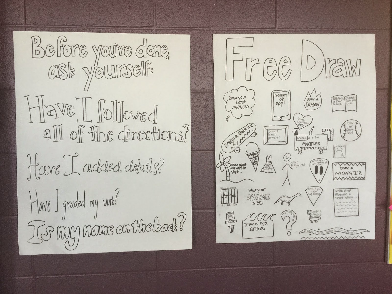 Before You're Done and Free Draw Posters