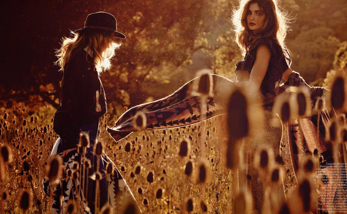 Andreea Diaconu & Edita Vilkeviciute  for Vogue Paris May 2014 (photography: Mikael Jansson, styling: Anastasia Barbieri)