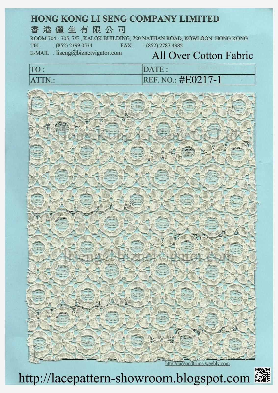 New Pattern All Over Cotton Fabric Manufacturer - Hong Kong Li Seng Co Ltd