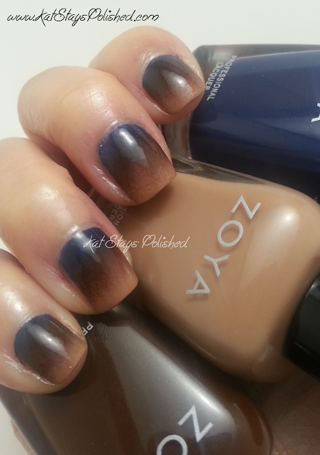 Zoya Flynn, Louise, Sailor - gradient nails