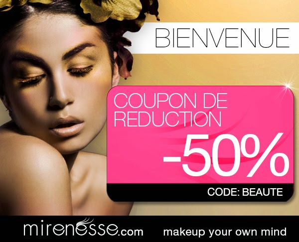 "CODE PROMO ""BEAUTE"" 48h Chez Mirenesse !"