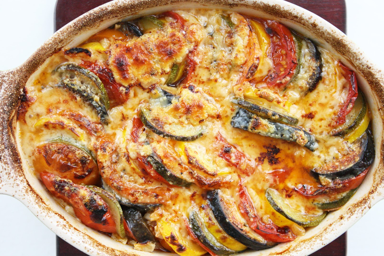 Baked ratatouille - French classical cuisine ...