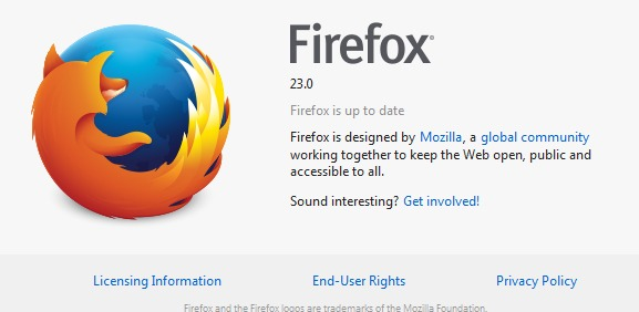 Download Mozilla Firefox 23.0 Final Terbaru