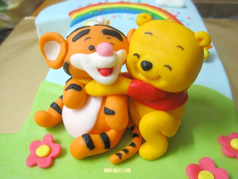Mom And Daughter Cakes Tigger On No1 Fondant Birthday Cake