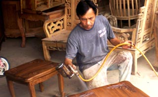 tentang proses finishing furniture minimalis melamine