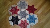 Blauw/rode sterren