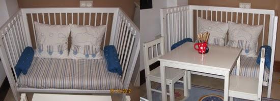 Reutilizar y reciclar cuna de bebe en un sofa