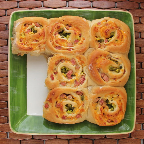 Cookistry: Ham and Cheese Rolls