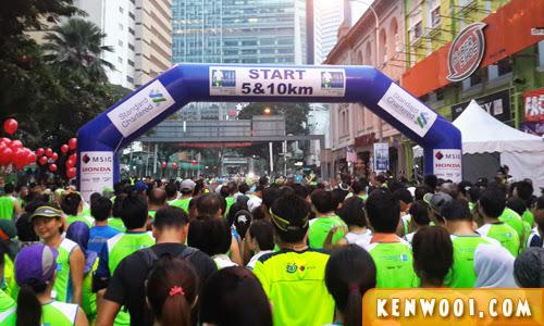 standard chartered kl marathon 2014 starting line