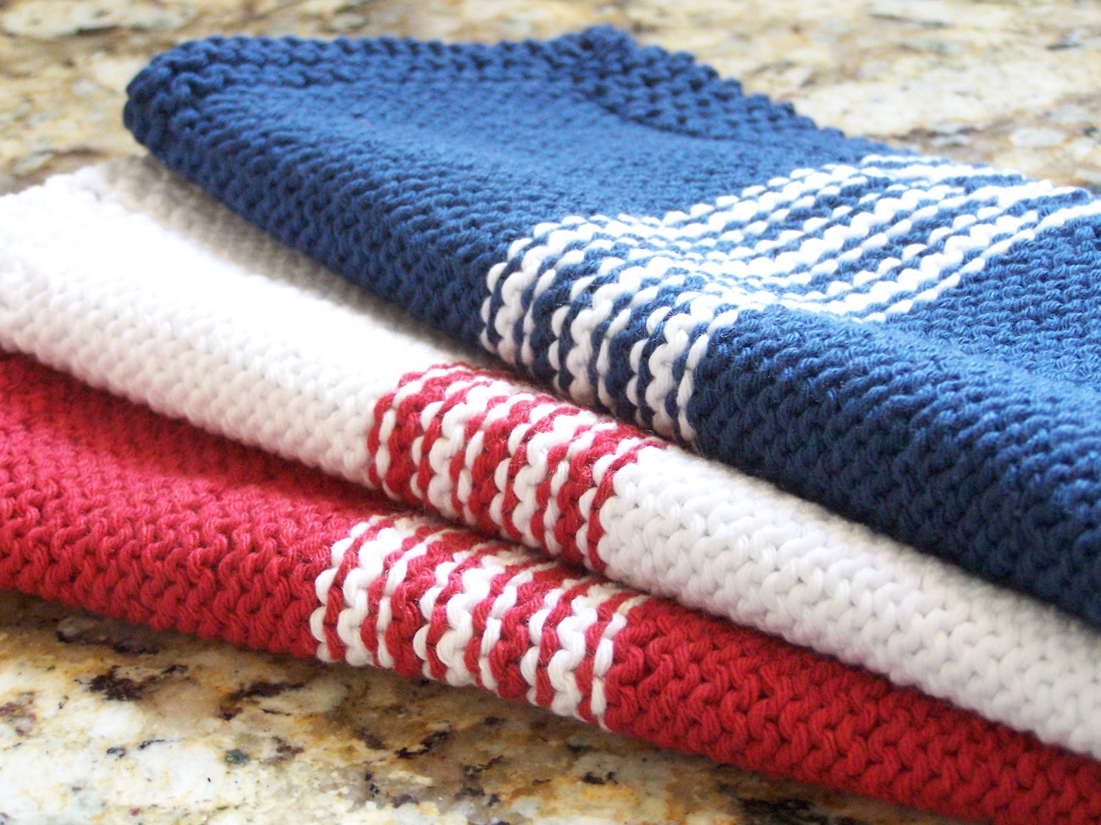 Delorme Designs: FRENCH STRIPE DISHCLOTH