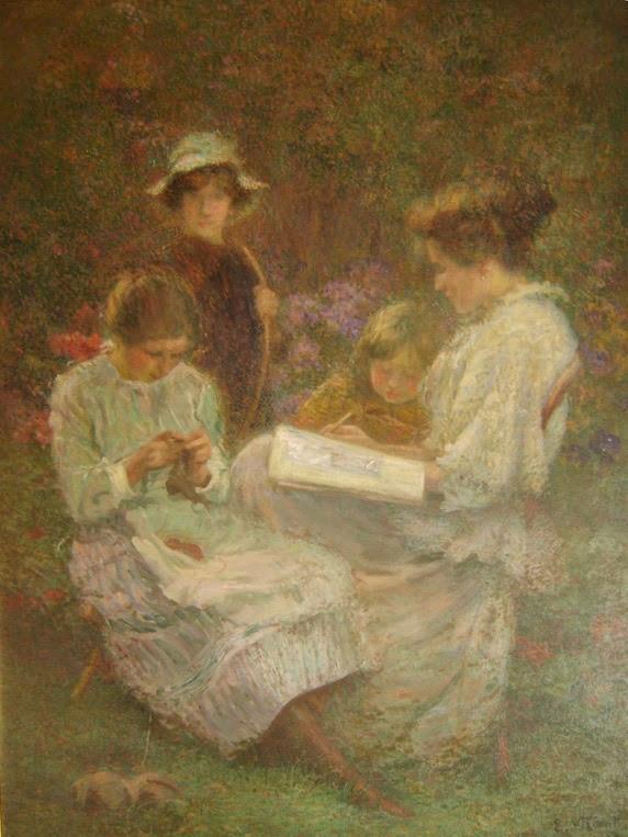 pintura família - Eliseu Visconti