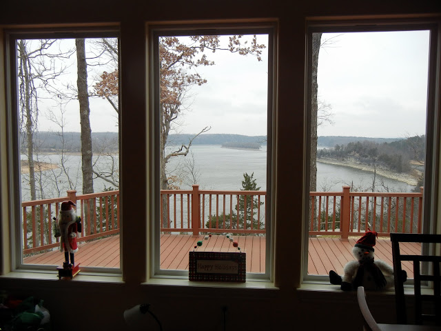 The view of Beaver Lake from my parent's lakehouse
