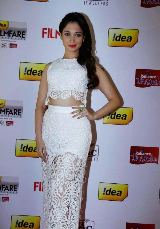 Tamanna Bhatia at 61st Idea Filmfare Awards 2013 (South)