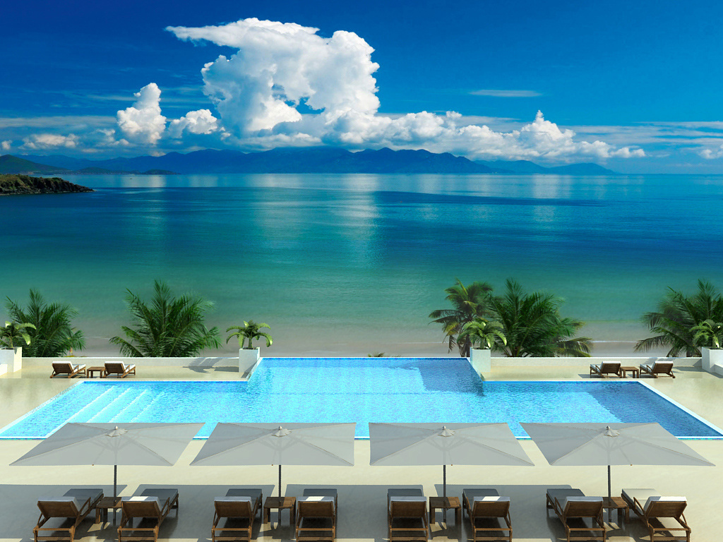 Ocean Pool View Beautiful New Nature Wallpaper
