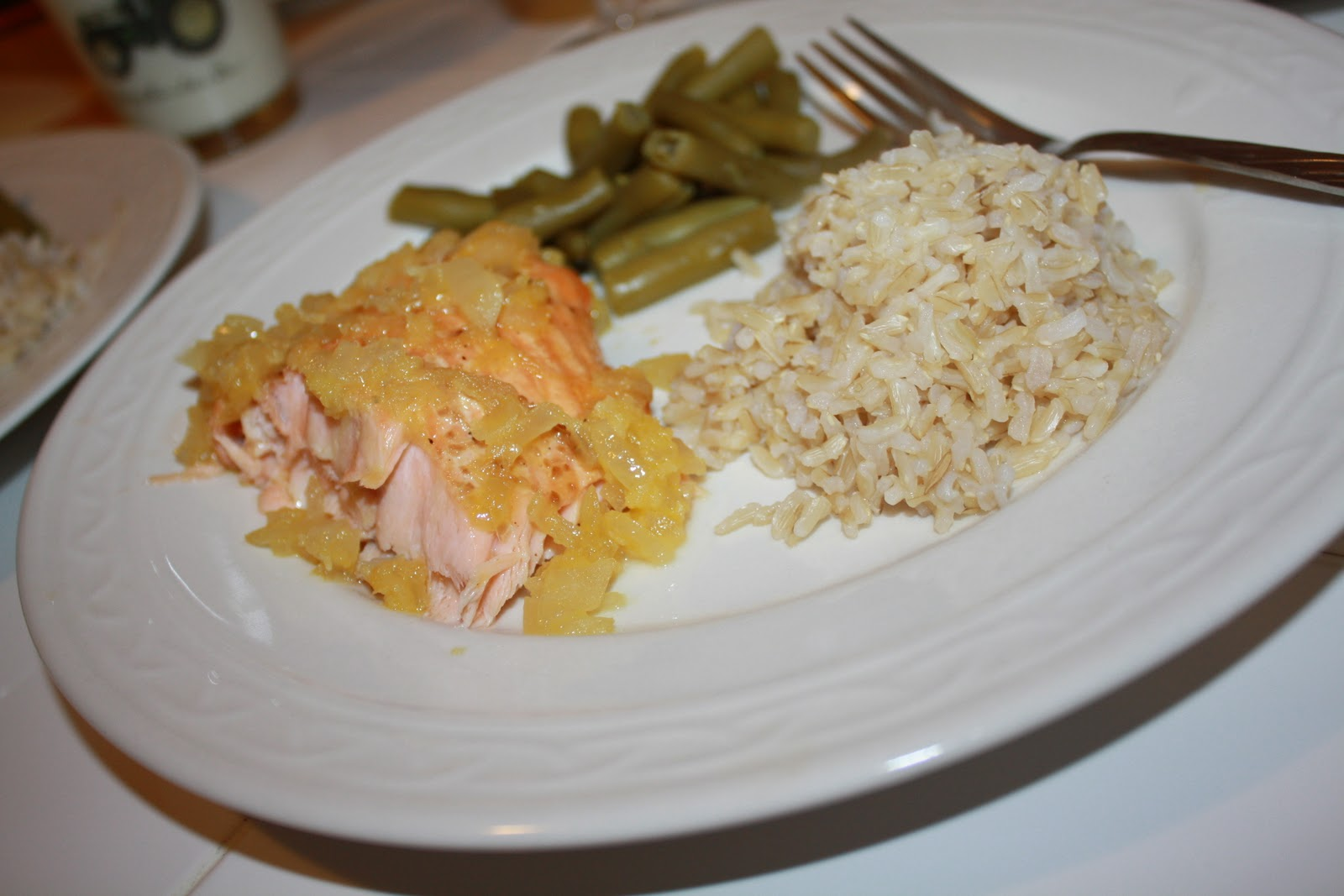 Naturally Raych: Day 2: Orange-Ginger Sauce on Grilled Salmon