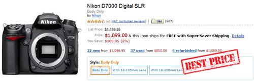 Buy cheap Nikon D7000 best price 2012