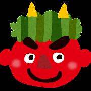節分のイラスト「笑う赤鬼」