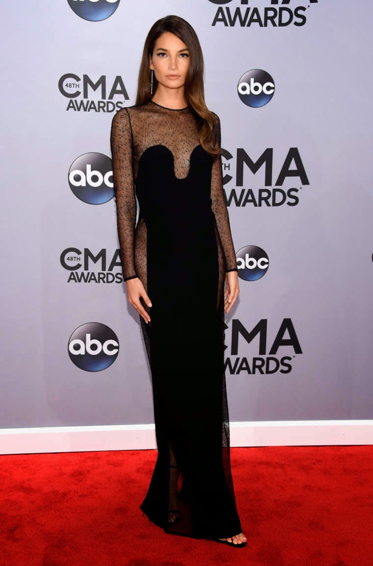 Lily Aldridge - Best Dressed Celebrities at the 2014 Annual CMA Awards in Nashville