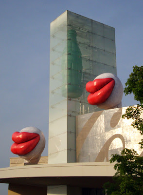 Giant Red Lips at the World of Coca-Cola