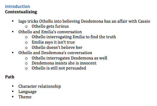 othello commentary