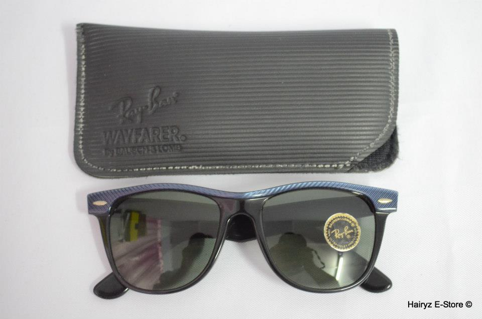 Original NOS Ray Ban B&L USA Wayfarer II Street Net (Blue) 54mm