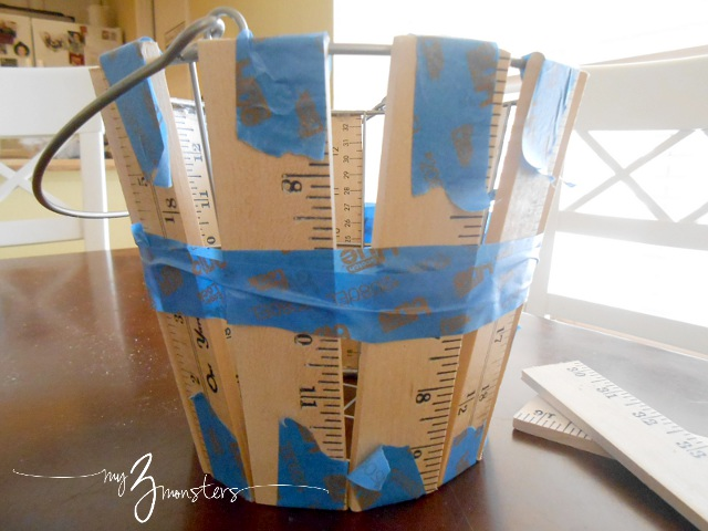 How to make a yardstick basket