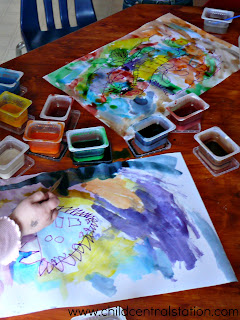 Process Art for Kids: Permanent Markers and Homemade Watercolors