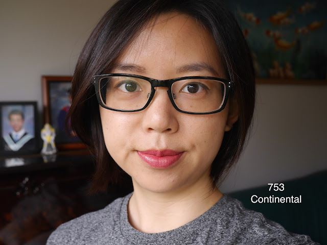 Rouge Dior lipstick 753 continental review swatch