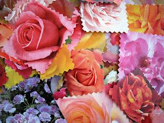 flores de primavera en pequeñas tarjetas