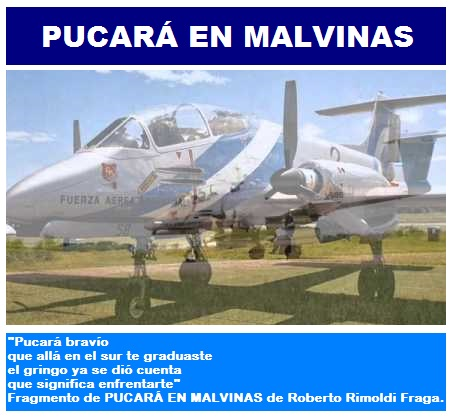 PUCARÁ EN MALVINAS.