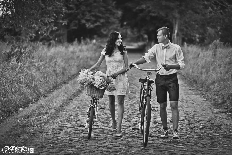 Ślubna sesja rowerowa