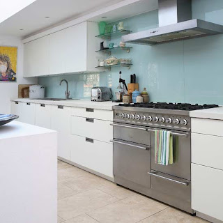 Cooker splashbacks stainless steel