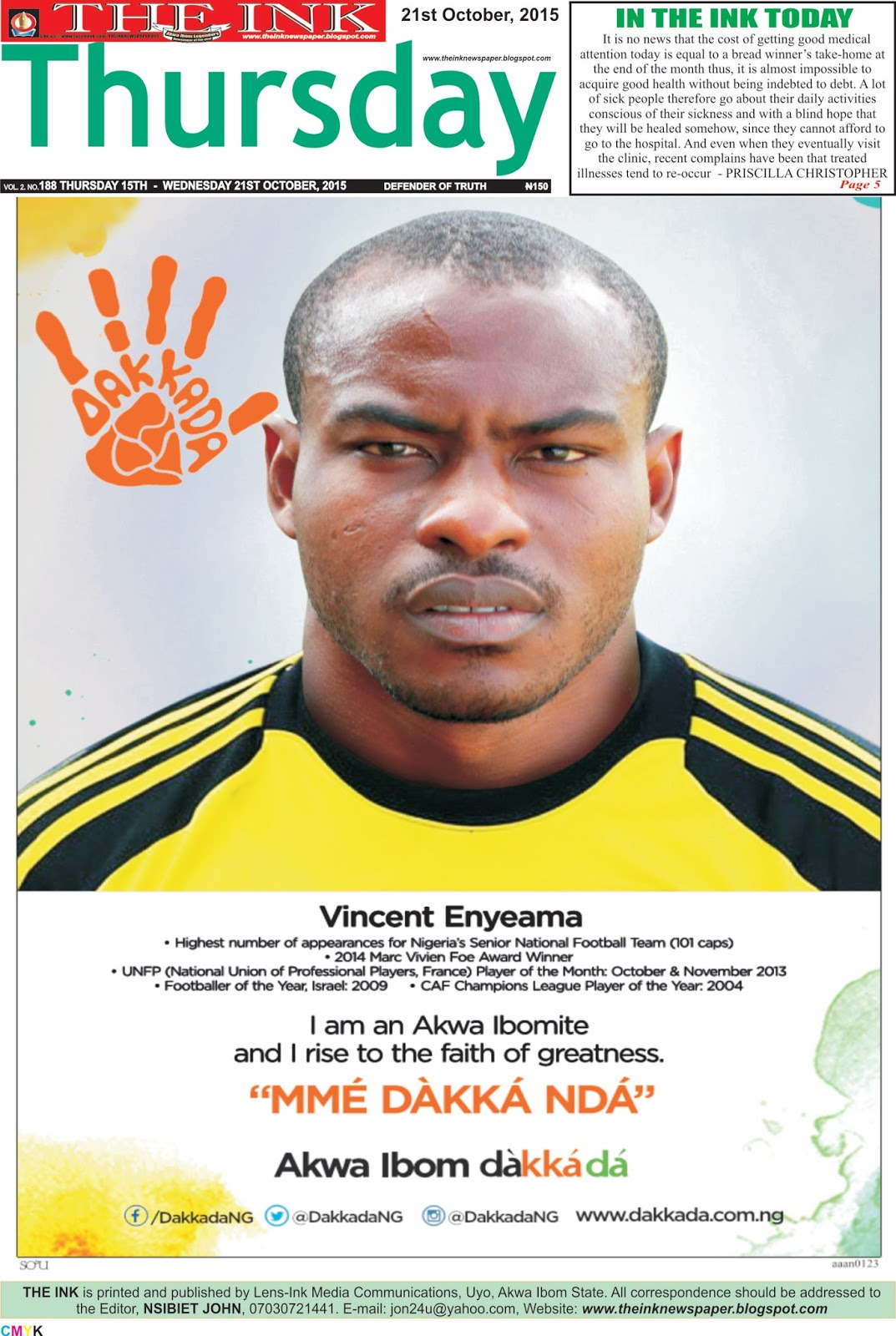 Vincent Enyeama As Oliseh begins the lonely walk along the slope