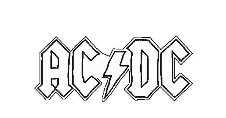 acdc coloring pages