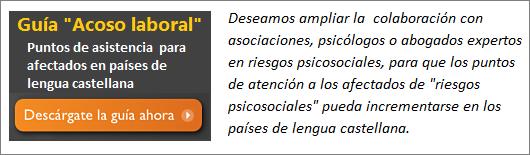 MobbingMadrid Descargar guía de puntos de asistencia para afectados de Acoso Laboral en países de lengua castellana en Ámerica