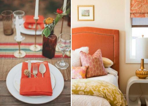 pomarańczowe inspiracje we wnętrzach