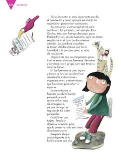 Apoyo Primaria Español 4to Bloque IV lección 12 Explorar y llenar formularios