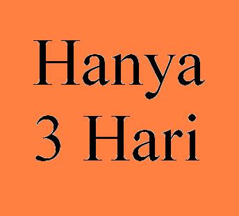 HANYA 3 HARI
