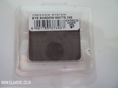 INGLOT FREEDOM SYSTEM EYESHADOW MATTE # 348 REVIEW