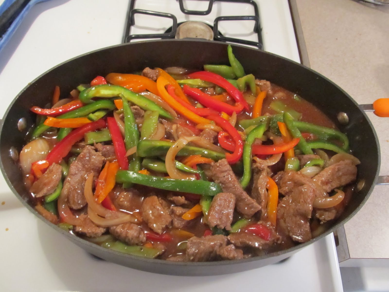 Divide the pepper steak mixture into three quart size containers and ...