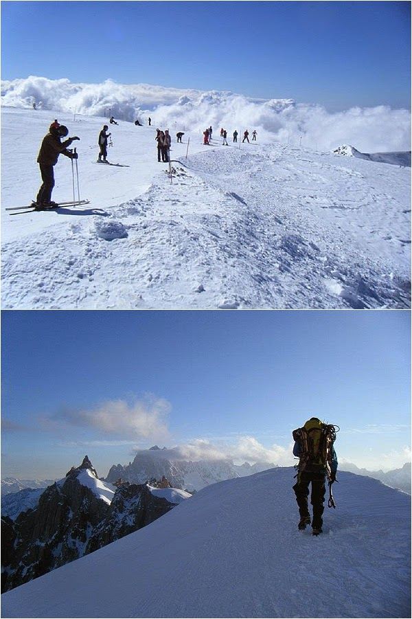 Skiing and Mountaineering on Mont Blanc