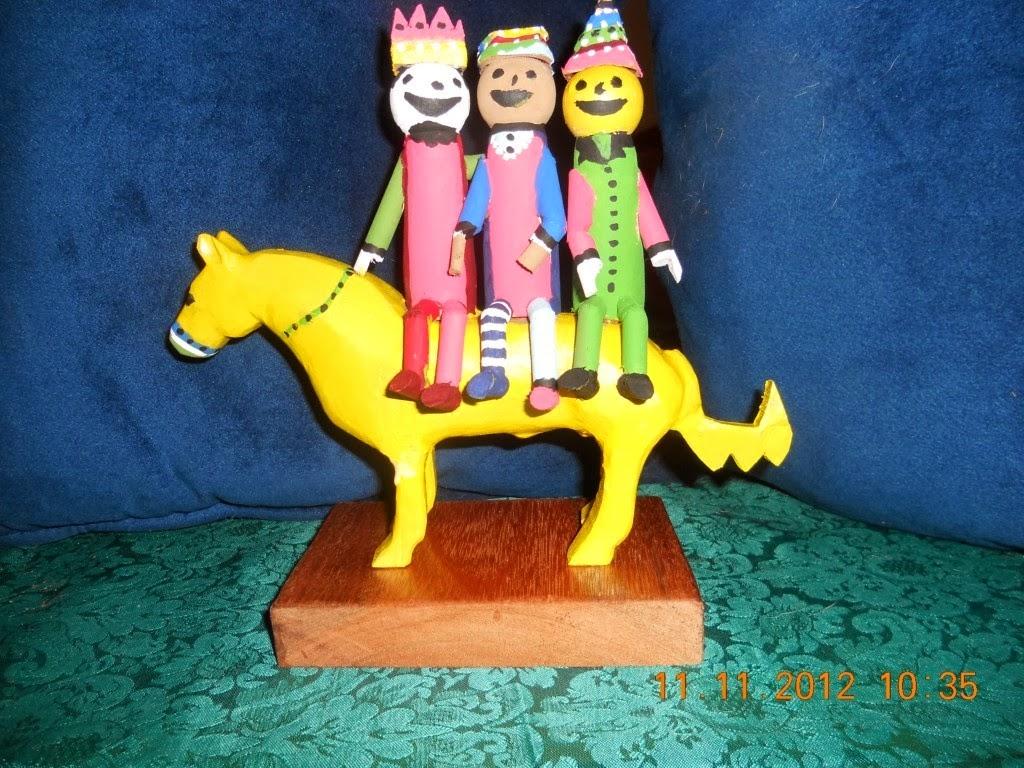 Reyes Magos en un caballo