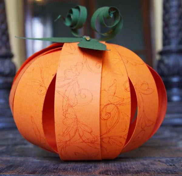 Ecologie citrouilles en papier pour halloween - Citrouille halloween en papier ...