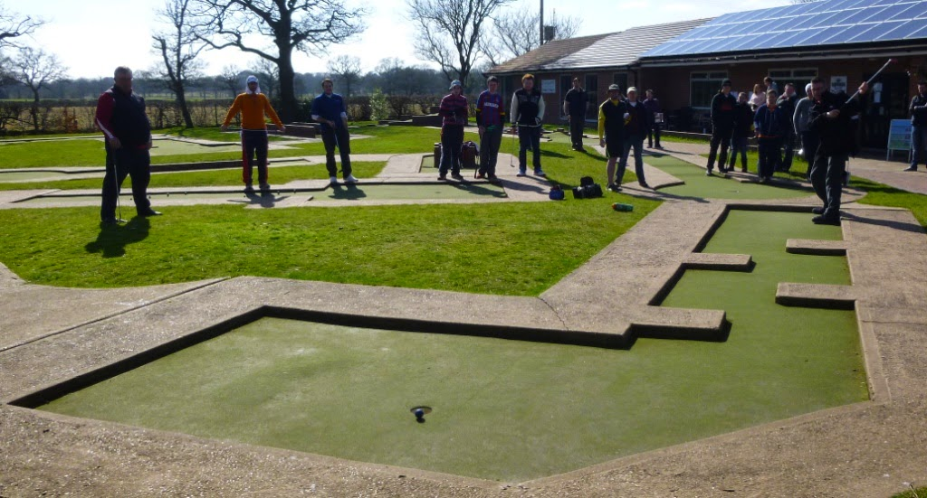 Richard Gottfried playing hole 2 during the Hole in One Charity Challenge